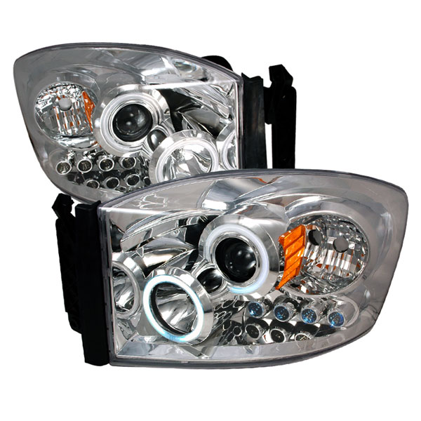 Spec-D Tuning 4LHP-RAM06-KS: Spec-D 06-08 Dodge Ram Ccfl Projector Headlights