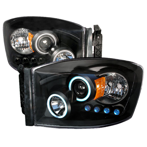 Spec-D Tuning 4LHP-RAM06JM-KS: Spec-D 06-08 Dodge Ram Ccfl Projector Headlights