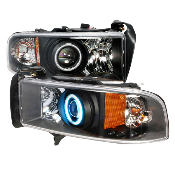 Spec-D Tuning (4LHP-RAM94JM-KS) Spec-D 94-01 Dodge Ram Projector Headlights