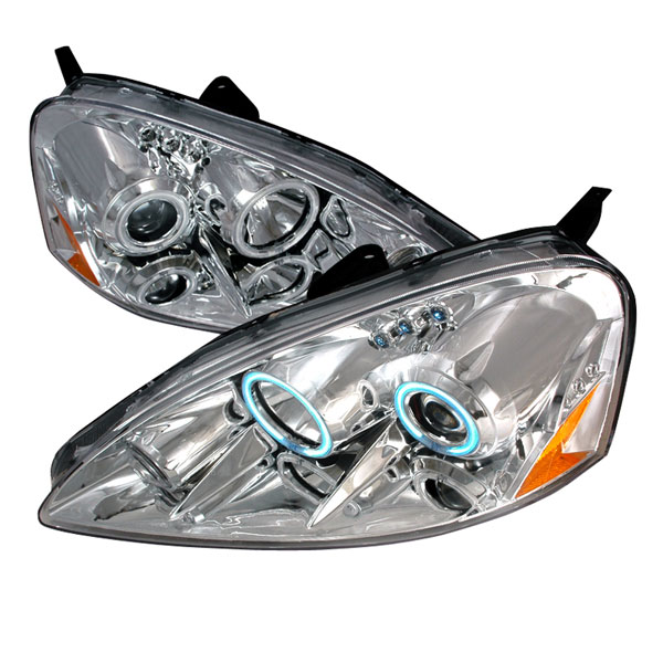 Spec-D Tuning 4LHP-RSX05-KS: Spec-D 05-06 Acura Rsx Halo Projector Headlights