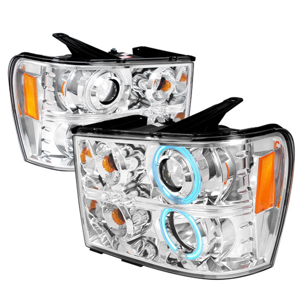 Spec-D Tuning 4LHP-SIE07-KS: Spec-D 07-08 Gmc Sierra projector Headlights ccfl