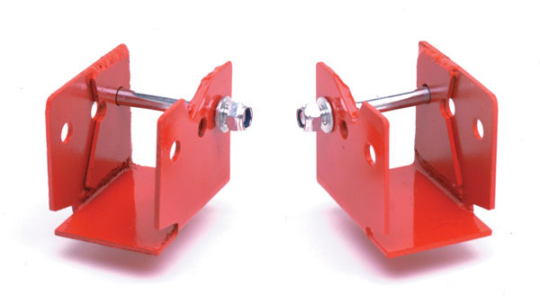 Granatelli (500009)  1982-2002 GM F-Body Rear Lower Control Arm Relocation Brackets - Red