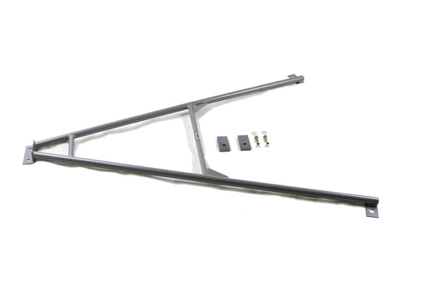 Granatelli 500071 | Camaro Sub-Frame Connector Kit (Front Wishbone) - Hammertone Gray; 2010-2012