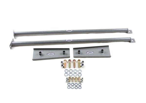 Granatelli 500074 | Camaro Rear Sub-Frame Connector Kit - Hammertone Gray; 2010-2015