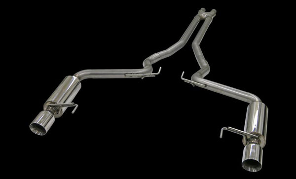 Bassani 5015R35:  2015 Mustang GT 5.0L Exhaust System with 3'' X-Cross Over and Race Muffler System