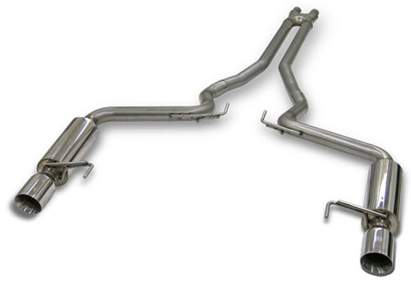 Bassani 5015R5:  2015 Mustang GT 5.0L Exhaust System with 2.5'' X-Cross Over and Race Muffler System