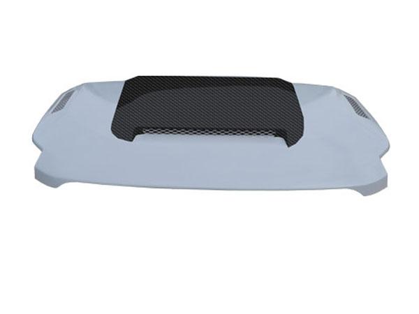 RKSport 51012000 | Toyota FJ Cruiser Hood with Ram Air Scoop & Heat Extraction Vents, Carbon Fiber Center Blister; 2007-2014