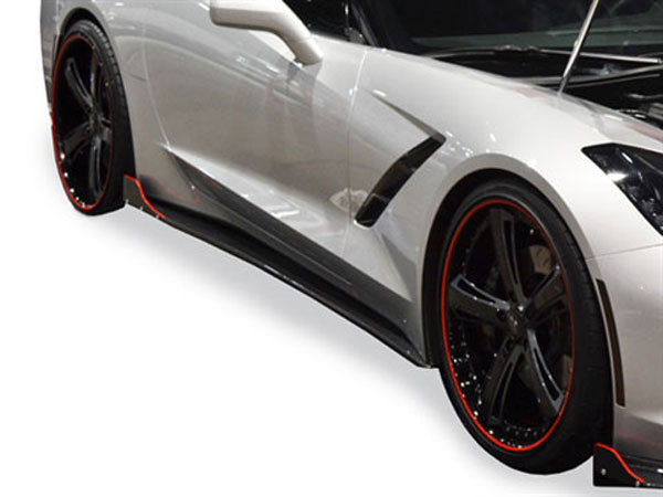 RKSport 52012030 | Corvette C7 Stingray Rocker Panels - Carbon Fiber; 2014-2019