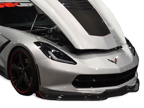 RKSport 52012040 | Corvette C7 Stingray Front Splitter - Carbon Fiber; 2014-2019