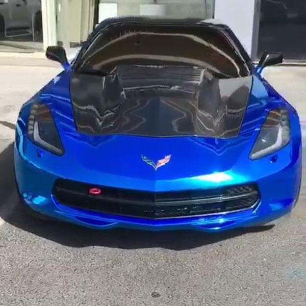 RKSport 52012050 | Corvette C7 Stingray Supercharger Extractor Hood in Carbon Fiber; 2014-2019