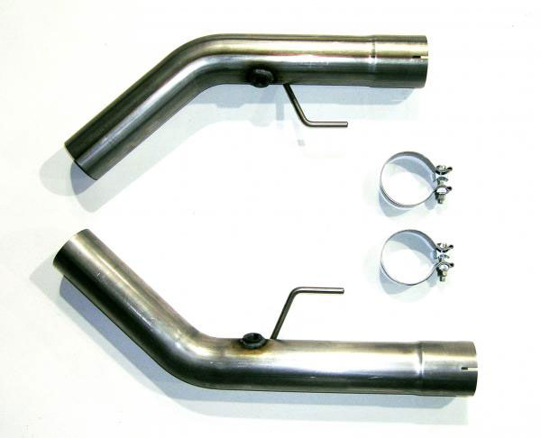 Bassani 5407R2 |  Mustang Shelby GT500 Stainless off road Adaptors For Headers V8; 2007-2010