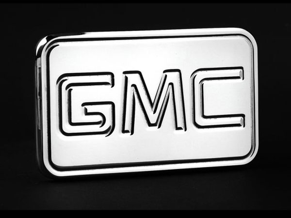 Empire 543P |  Plate with GMC Hitch Cover Fits 2 Inch Hitch Receiver; 1992-2012