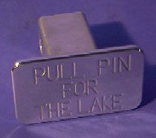 Empire 547P:  (Pull Pin For The Lake) Hitch Cover Fits 2 Inch Hitch Receiver Dodge Trucks