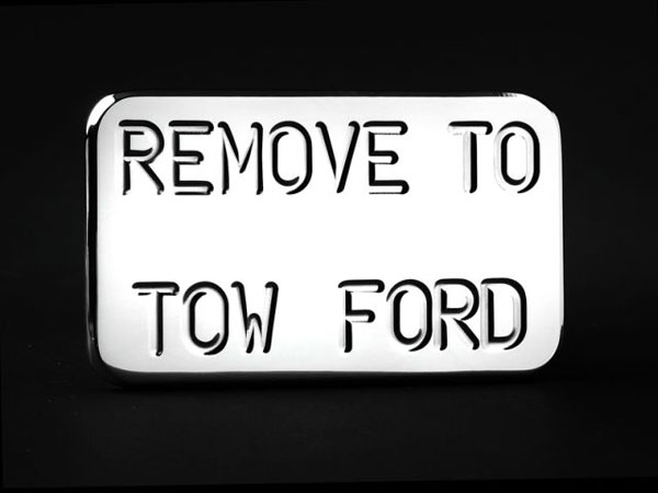 Empire (548P)  (Remove to Tow Ford) Hitch Cover Fits 2 Inch Hitch Receiver Dodge Trucks