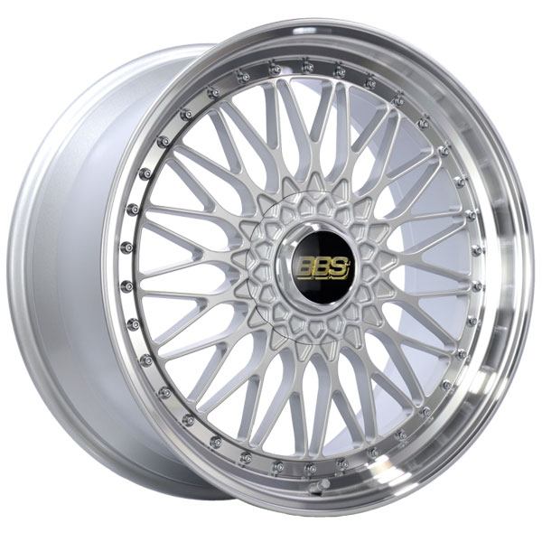 BBS RS559HSPK | RS 20x9.5 5x120 ET40 Silver Center Diamond Cut Lip Wheel -82mm PFS/Clip Required