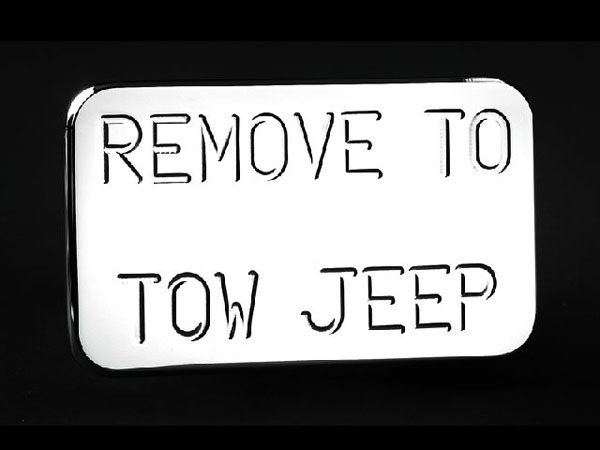Empire 560P:  (Remove to Tow Jeep) Hitch Cover Fits 2 Inch Hitch Receiver Toyota Trucks