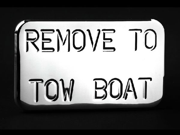 Empire 565P:  (Remove to Tow Boat) Hitch Cover Fits 2 Inch Hitch Receiver GM Trucks