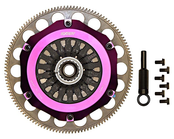Exedy Racing ZM022SBMC1 | Exedy Hyper Twin Carbon-R Clutch Kit MAZDA RX-7 R2 1.3; Rigid Disc; Pull Type; 1993-1995