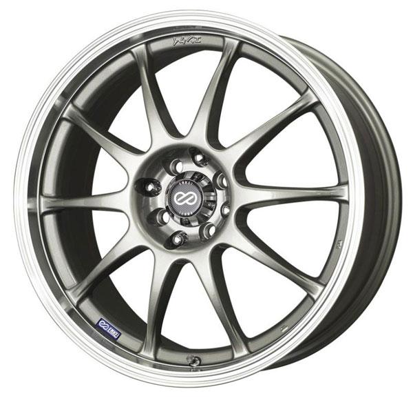 Enkei 409-770-16sp | J10 17x7 5x112/120 38mm Offset 72.62mm Bore Dia Silver w/ Machined Lip Wheel