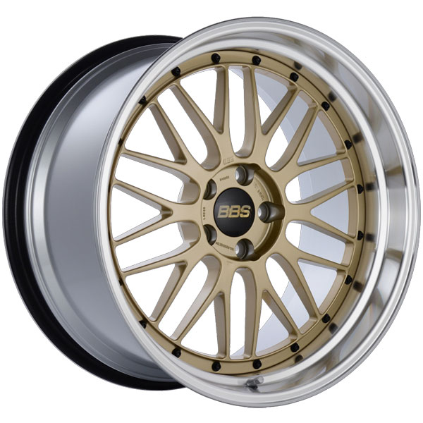 BBS LM239GPK | LM 20x10.5 5x114.3 ET20 CB66 Gold Center Diamond Cut Lip Wheel