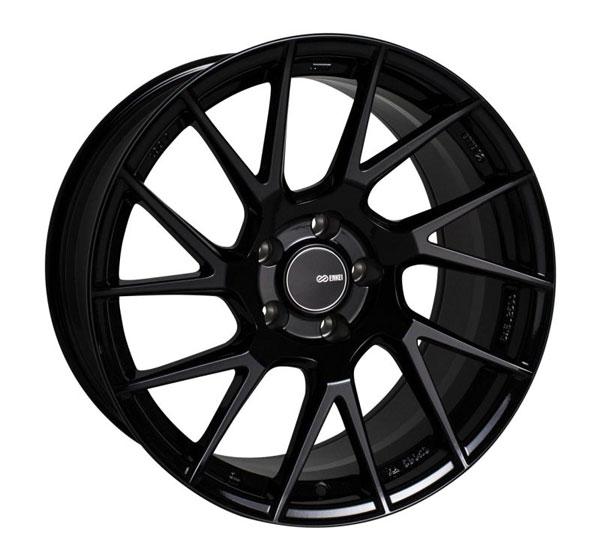 Enkei 507-780-6545bk   TM7 17x8.0 5x114.3 45mm Offset 72.6mm Bore Gloss Black Wheel