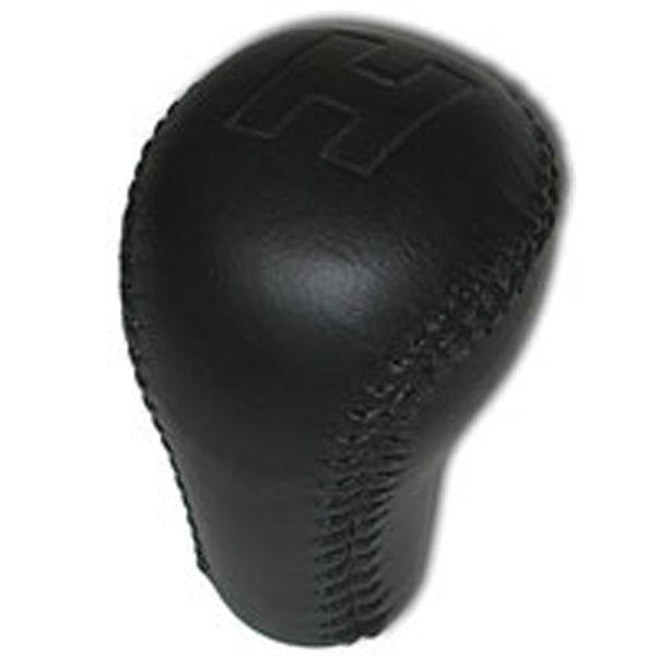 SLP Performance 60081 | SLP Knob Leather Wrapped H Hurst Logo Black 5-Speed/6-Speed Shifter Camaro V8; 1984-2002