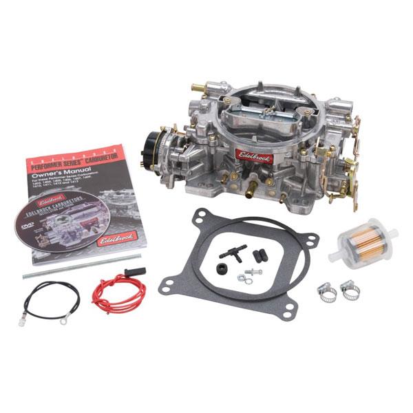 Edelbrock 1406   Carburetor Performer Series 4-Barrel 600 CFM Electric Choke Satin Finish