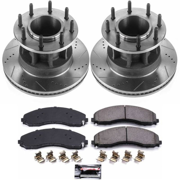 PowerStop k7420-36   Power Stop 17-19 Ford F-450 Super Duty Front Z36 Truck & Tow Brake Kit; 2017-2019