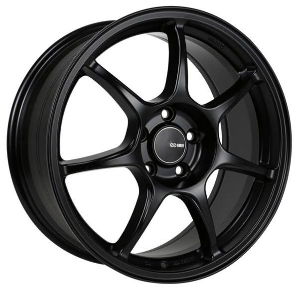 Enkei 468-775-8050bk | Fujin 17 x 7.5 50mm Offset 5x100 Bolt Pattern 72.6 Bore Black Matte Wheel