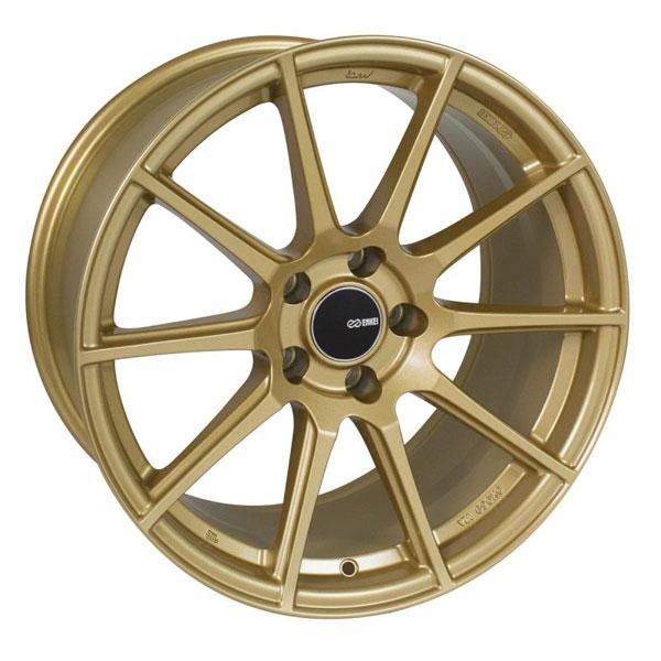 Enkei 499-780-8045gg   TS10 17x8 5x100 45mm Offset 72.6mm Bore Gold Wheel