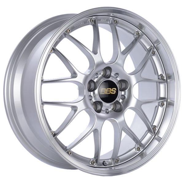 BBS RS983DSPK | RS-GT 20x8.5 5x114.3 ET43 Diamond Silver Center Diamond Cut Lip Wheel -82mm PFS/Clip Required