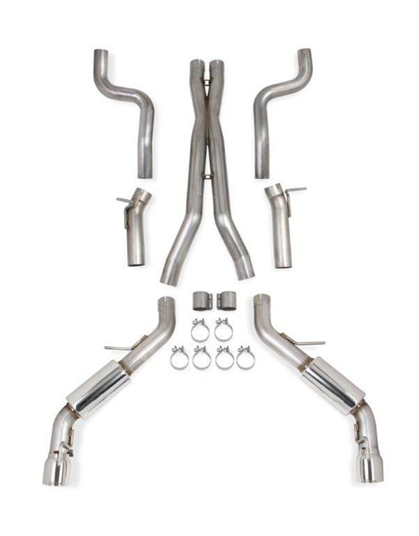 Hooker 70501396-RHKR    Camaro SS Blackheart Dual Exhaust with X-pipe Single Tips for Manual Transmission and Headers; 2016-2016