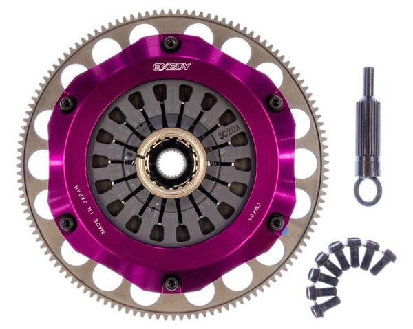 Exedy Racing FM023SBMC1 | Exedy Hyper Triple Carbon-R Clutch Kit SUBARU LEGACY H4 2.5; 6Spd Trans.; Rigid Disc; Pull Type; 2006-2009