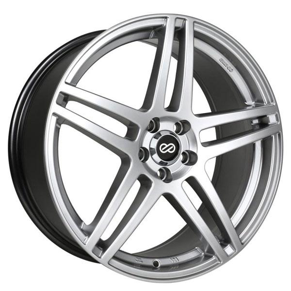 Enkei 479-880-8040hs | RSF5 18x8 40mm Offset 5x100 Bolt Pattern 72.6mm Bore Dia Hyper Silver Wheel