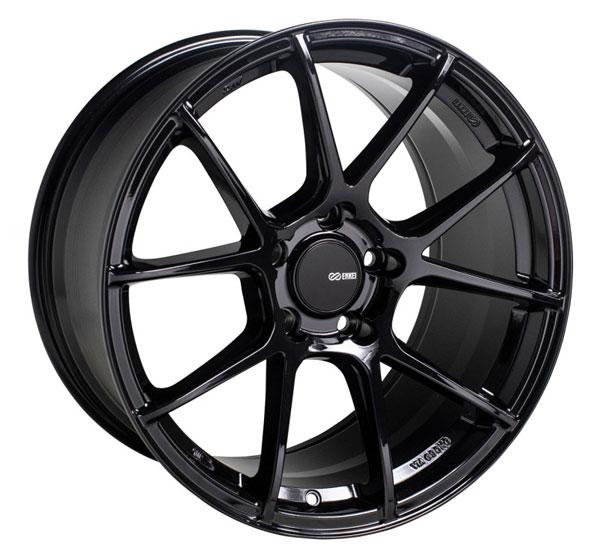 Enkei 522-780-8045bk | TS-V 17x8 5x100 45mm Offset 72.6mm Bore Gloss Black Wheel