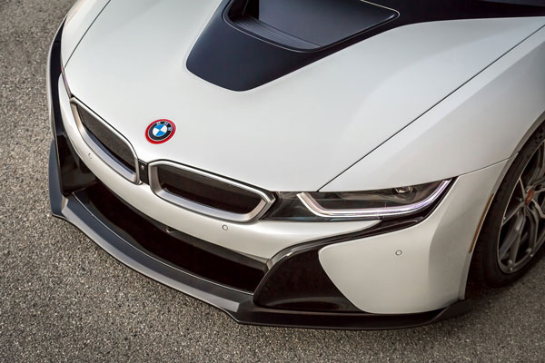 Vorsteiner 8000BMV | BMW i8 VR-E Aero Front Spoiler Carbon Fiber PP 1x1 Glossy; 2014-2017