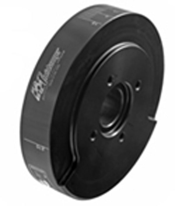 Fluidampr 800141:  GM Diesel 6.2L / 6.5L 1994-2000 (Electronic) Pulley External Balance Black Zinc Finish 8in Diam 18.2 lbs