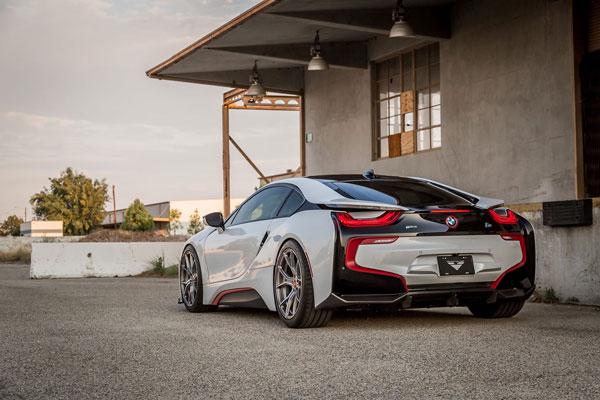 Vorsteiner 8001BMV |  BMW i8 VR-E Aero Rear Diffuser Carbon Fiber PP 1x1 Glossy; 2014-2017