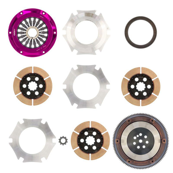Exedy Racing MM023HR | Exedy Hyper Triple Cerametallic Clutch Kit MITSUBISHI LANCER L4 2; Rigid Disc; Pull Type; 2006-2006
