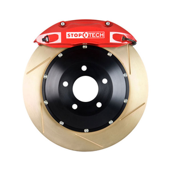 Stoptech 83.055.4300.73 | StopTech Acura NSX Big Brake Kit ST-40 Red Calipers & 2-Piece Yellow Zinc Slotted Rotors, Front; 1991-2005