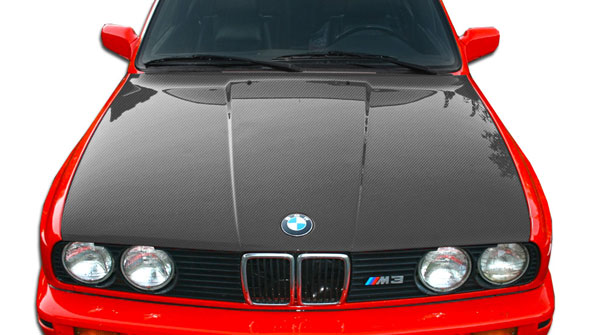 Carbon Creations 106149 | BMW 3 Series E30 Carbon Creations OEM Hood 1-Piece; 1984-1991