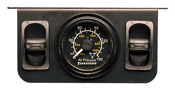 Firestone 2145 | Air Adjustable Leveling Pneumatic Control Panel w/Dual Black Gauge 0-150psi (WR17602145)