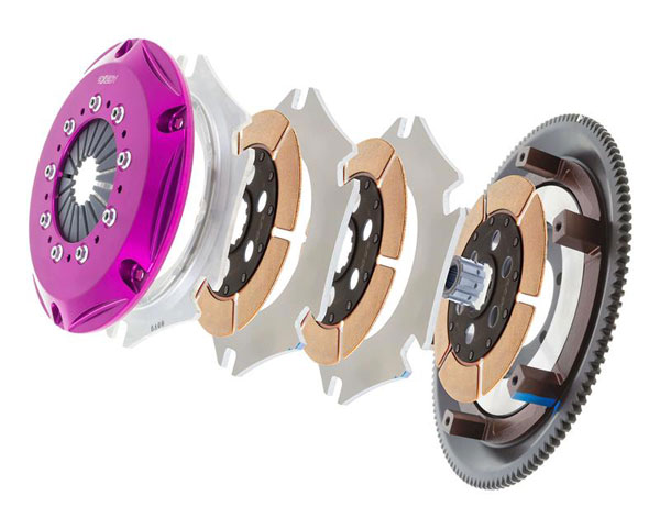 Exedy Racing ZM013SR | Exedy Hyper Triple Cerametallic Clutch Kit MAZDA RX-7 R2 1.3; Rigid Disc; Push Type; 1986-1989