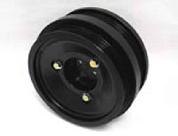 Fluidampr 870211 | Ford PowerStroke 6.0L Dual Alternator Pulley External Balance Black Zinc Finish 8 7/8in Diam 28.9 lbs; 2004-2010