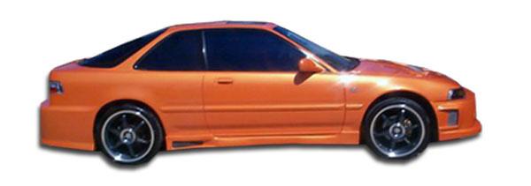 Duraflex 100894 | Acura Integra 2DR Duraflex Spyder Side Skirts Rocker Panels 2-Piece; 1990-1993