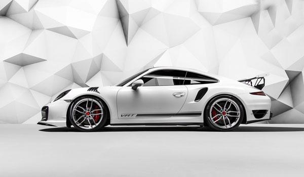 Vorsteiner 9110POV |  Porsche 991 Turbo V-RT Aero Front Bumper w/ Lower Chin Spoiler Carbon Fiber PP 1x1 Glossy; 0-0