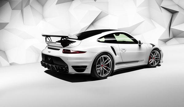 Vorsteiner 9111POV |  Porsche 991 Turbo V-RT Aero Rear Bumper Carbon Fiber PP 1x1 Glossy; 0-0
