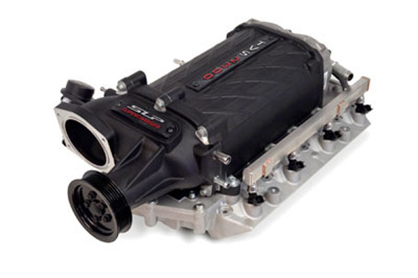 SLP Performance 92000A | SLP Supercharger Package, V8 Camaro Black Finish TVS 575HP/550HP Stage 1; 2009-2013