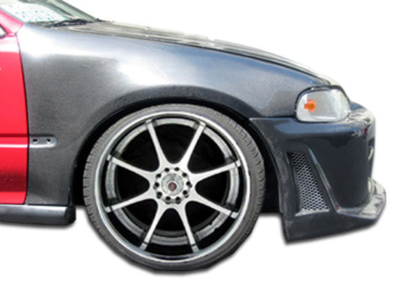 Carbon Creations 102840: 1992-1995 Honda Civic 2DR / HB Carbon Creations OEM Fenders - 2 Piece