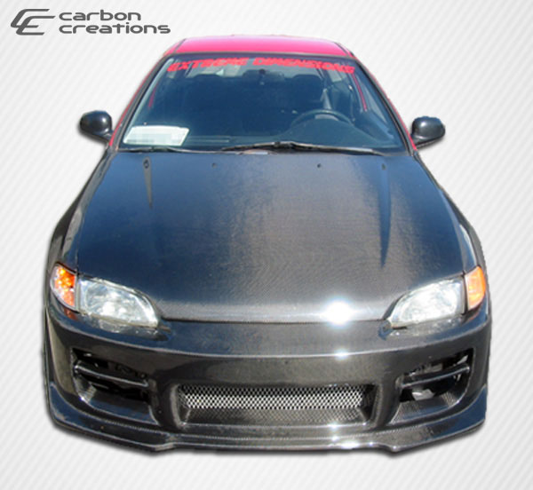 Carbon Creations 101091: 1992-1995 Honda Civic 2DR / HB Carbon Creations OEM Hood - 1 Piece